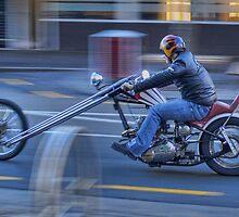 Triumph Chopper in motion by Antony Burton