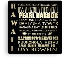Hawaii Famous Landmarks Canvas Print
