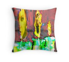 Candles in the Window Throw Pillow