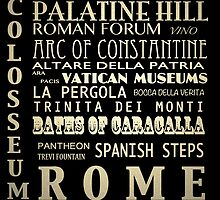 Rome Italy Famous Landmarks by Patricia Lintner
