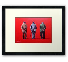 Remember when we used to paint this town red? Framed Print
