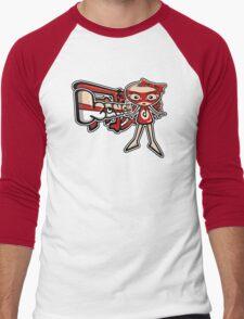 Doll Mascot Tag Men's Baseball ¾ T-Shirt