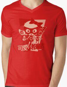 Doll Mascot Stencil Mens V-Neck T-Shirt