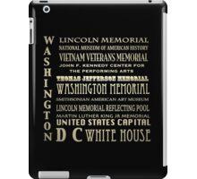 Washington DC Famous Landmarks iPad Case/Skin