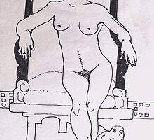 Gaugiun's Nude. ( Homage To Gauguin ) by Richard  Tuvey