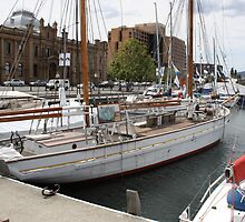 SV May Queen Hobart Docks Tasmania by PaulWJewell