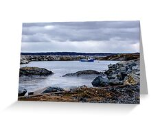 Blue Rocks-Tiny Harbour (1) Greeting Card