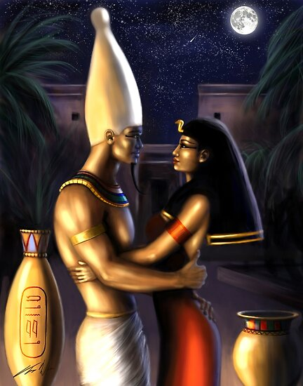 Osiris and Isis by Tanya Wheeler Varga