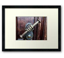 antique door handle Framed Print