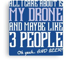 3 People, Beer, People, Care, Care About, Like 3, Maybe, Oh Yeah, Comic Books Canvas Print