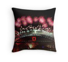 Sydney Fireworks 2009-2010 p2 Throw Pillow