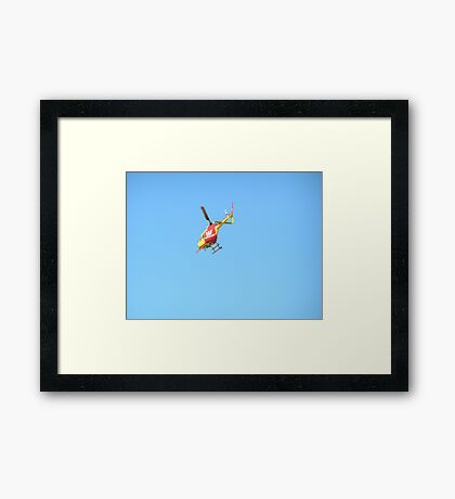 Off on patrol Framed Print
