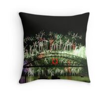 Sydney Fireworks 2009-2010 p7 Throw Pillow