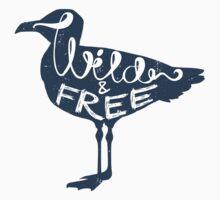 """Wild And Free"" Seagull Kids Tee"