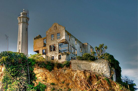 Alcatraz Lighthouse by Cheryl  Lunde
