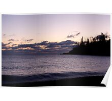 Lake Superior Sunrise in Winter Poster