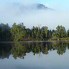 Mt Murchison - mistily reflected on Lake Rosebery by gaylene