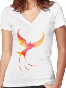 Soaring Sunset Women's Fitted V-Neck T-Shirt