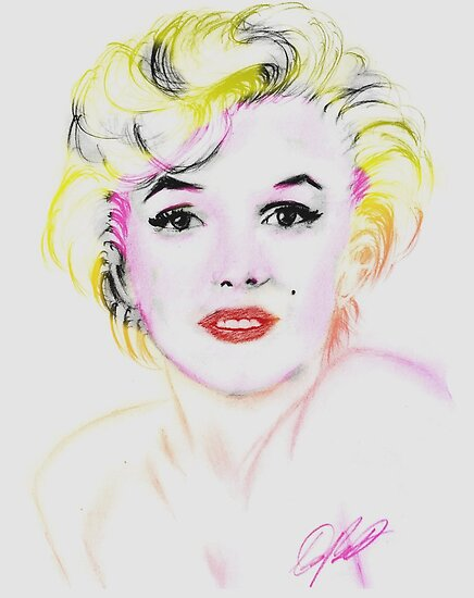a marilyn monroe drawing by ralphyboy
