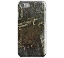 Siegfried & The Twilight of the Gods by Richard Wagner art Arthur Rackham 1911 0035 And There I Learned What Love Was Like iPhone Case/Skin