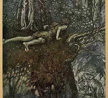 Siegfried & The Twilight of the Gods by Richard Wagner art Arthur Rackham 1911 0035 And There I Learned What Love Was Like by wetdryvac