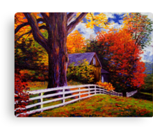 Fence in New England Canvas Print
