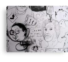 Doodles.  Metal Print