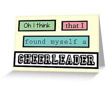 Cheerleader Lyrics Highlight Greeting Card