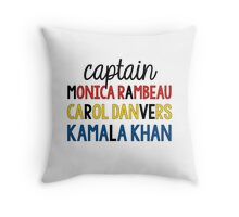 MARVELous ladies Throw Pillow