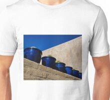 Blue Pottery on Wall Unisex T-Shirt
