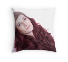 Lady With The Red Hair Throw Pillow