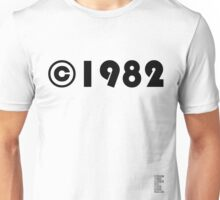 Year of Birth ©1982 - Light variant Unisex T-Shirt