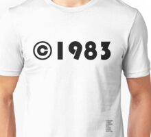 Year of Birth ©1983 - Light variant Unisex T-Shirt