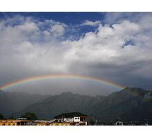 rainbow over dal lake Photographic Print