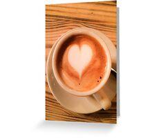 Heart Coffee Greeting Card