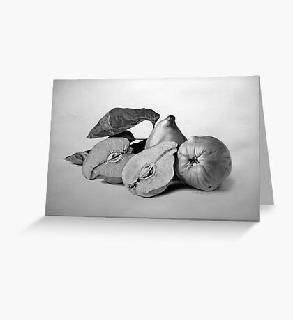 Three quinces Greeting Card