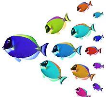 School of colorful fish  by Atanas Bozhikov NASKO