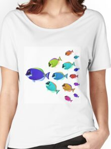 School of colorful fish  Women's Relaxed Fit T-Shirt