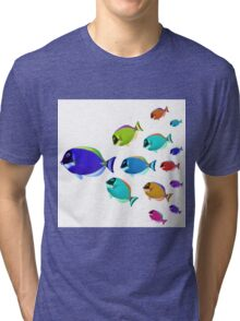 School of colorful fish  Tri-blend T-Shirt