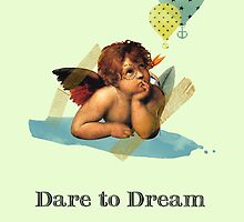 Dare to Dream Post Card by Voila and Black Ribbon
