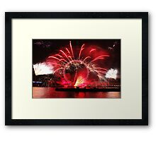 New Year Red Eye Framed Print