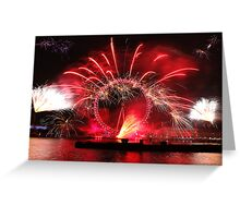 New Year Red Eye Greeting Card