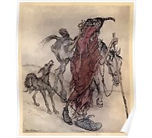 Irish Fairy Tales by James Stephans art by Arthur Rackham 1920 0387 The Hag of the Mill Poster