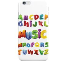 alphabet music design t-shirt iPhone Case/Skin