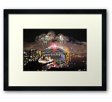 Let There Be Light #1- Sydney New Years Eve ,Australia Framed Print