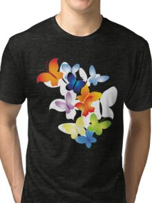butterfly designs t-shirt Tri-blend T-Shirt
