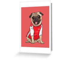 football pug Greeting Card