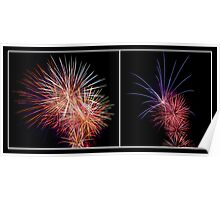 Penrith Panthers Fireworks - Diptych II Poster