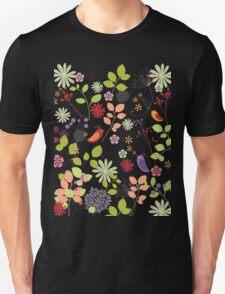 birds in flower garden t-shirt T-Shirt