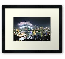 Let There Be Light #6 - Sydney New Years Eve 2009 Framed Print